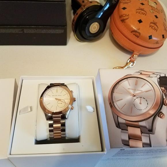767b2a286 Michael Kors Access Slim Runway Hybrid Smartwatch.  M_5a9efadd331627b0744d9423